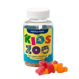 KidsZoo Fiskolja 90 tuggtabletter fiskar